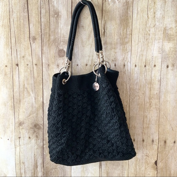 The Sak Handbags - The SaK Original, Hans-crocheted Tote Bag in Black